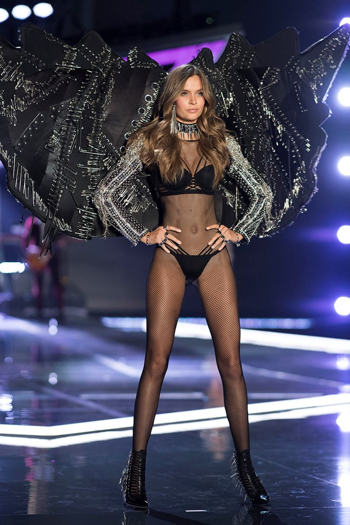 "***Josephine Skriver*** <br> Since attaining Angel status, Josephine Skriver has not only reached her VS peak, but become renowned for her [advocacy work](https://fashionista.com/2013/07/how-one-model-is-using-her-personal-story-to-fight-for-marriage-equality|target=""_blank"") for LGBTQ+ families. Regardless, Skriver is just as strong a contender as ever to be awarded the Fantasy Bra."