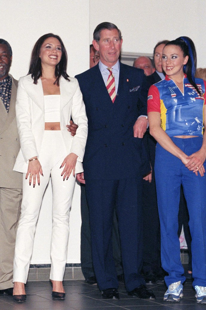 With Prince Charles and Melanie Chisholm (Sporty Spice), 1997