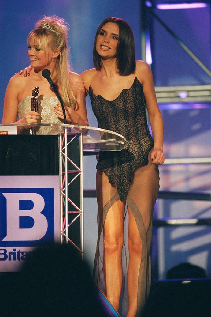 With Emma Bunton (Baby Spice), 1997