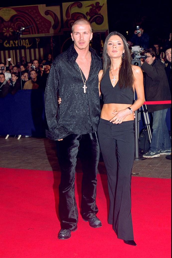 With David Beckham, 2001