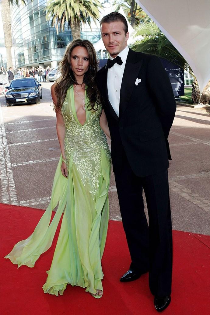 With David Beckham, 2005