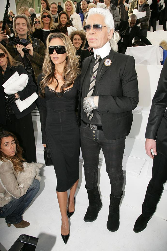 With Karl Lagerfeld at a Chanel show, 2006