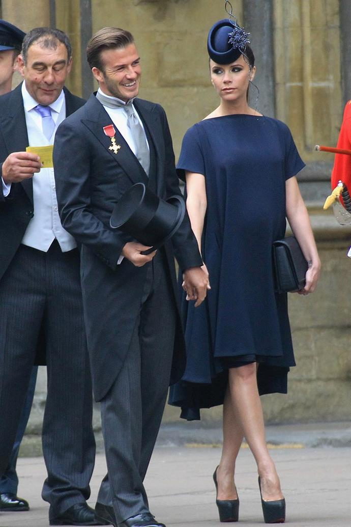 In her own label at the wedding of Prince William and Catherine Middleton, 2011