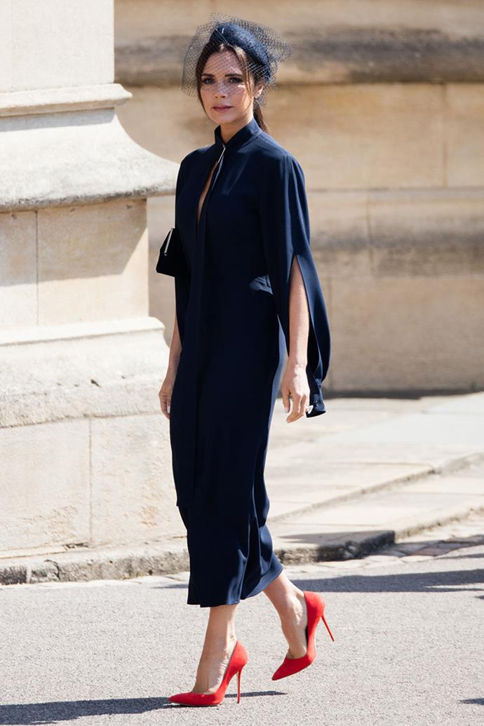 In her own label at the wedding of Prince Harry and Meghan Markle, 2018