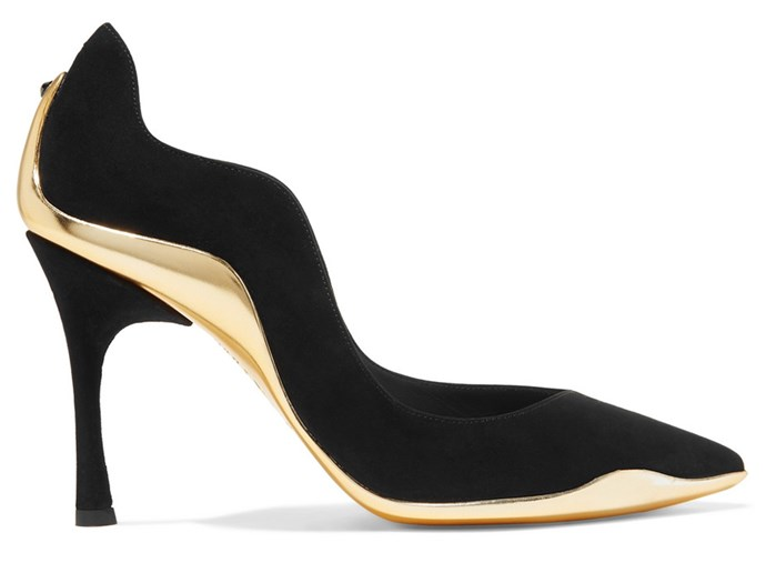 """Infused with unmistakable Italian glamour, these opulent pumps give classic outfits a futuristic revamp. <br><br> René Caovilla pumps, $1,200 at [Net-a-Porter](https://www.net-a-porter.com/au/en/product/1073775/rene_caovilla/tessa-suede-pumps