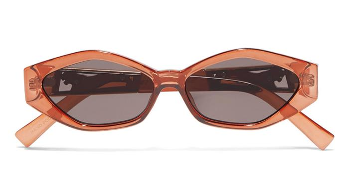 """Take Kanye's advice and opt for thin-frame sunglasses as your eyewear of choice this spring racing season. A collaboration with NYC-based jewellery designer Jordan Askill, these Le Specs' frames are equal parts on-trend and versatile. <br><br> Le Specs sunglasses, $132.59 at [Net-a-Porter](https://www.net-a-porter.com/au/en/product/1091851/le_specs/--jordan-askill-petit-panthere-cat-eye-acetate-and-gold-tone-sunglasses