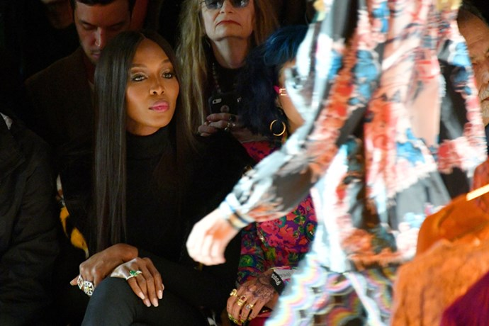 Naomi Campbell at Anna Sui