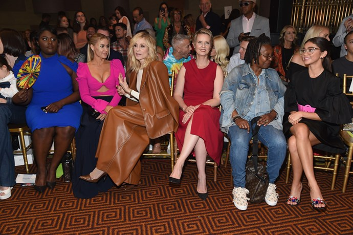 Danielle Brooks, Carmen Electra, Judith Light, Cynthia NIxon, Whoopi Goldberg and Sarah Hyland at Christian Siriano