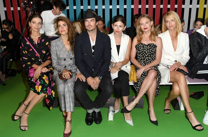 Angela Sarafyan, Nikki Reed, Ian Somerhalde, Kate Bosworth and Amber Valletta at Escada