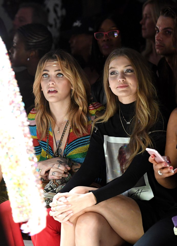 Paris Jackson and Gigi Hadid at Jeremy Scott