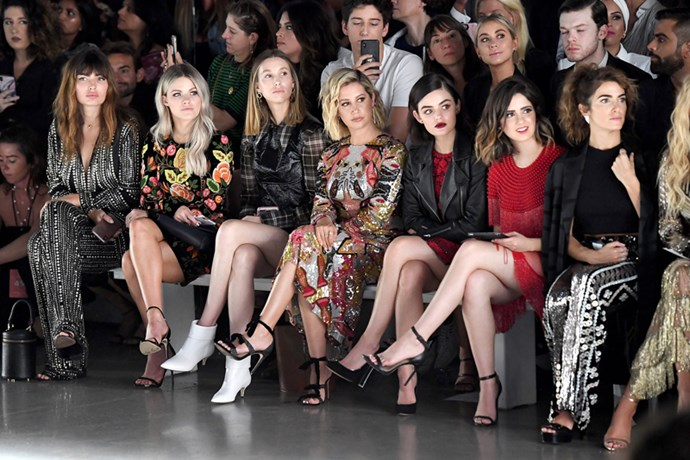 Witney Carson, Whitney Port, Ashley Tisdale, Lucy Hale and Nikki Reed at Naeem Khan