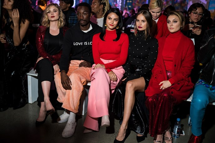 Bella Heathcote, Nathan Stewart Jarrett, Camila Mendes, Debby Ryan and Daya at Prabal Gurung