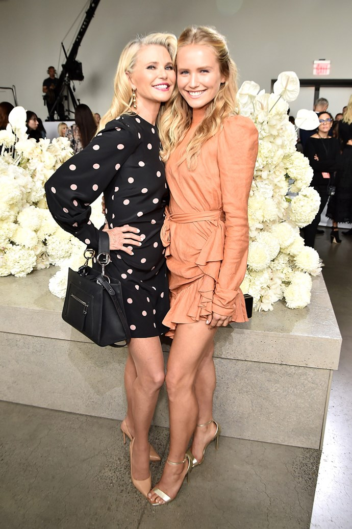 Christie Brinkley and Sailor Brinkley Cook at Zimmermann