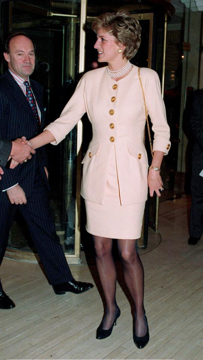 Attending a lunch at The Hilton Hotel in London on December 16, 1994