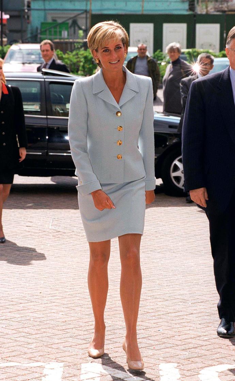 Visiting The Royal Brompton Hostpital on April 15, 1997