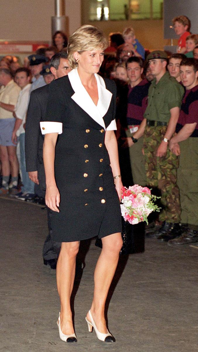 Arriving at the Royal Tournament on July 11, 1996
