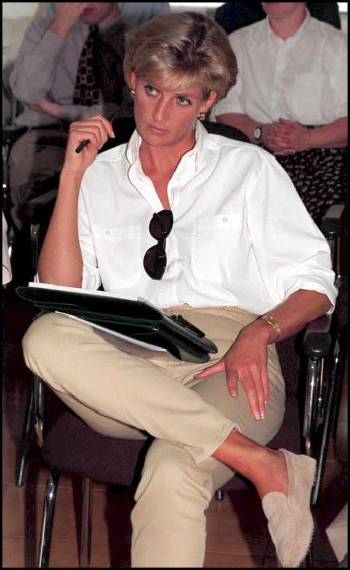 During a trip to Angola on January 13, 1997