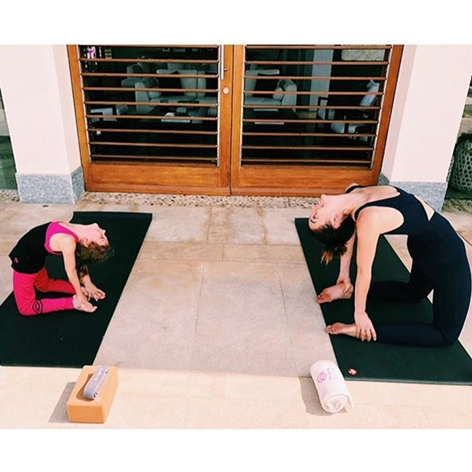 """<strong>Lily Aldridge</strong> <br>On exercise: """"'I do Ballet Beautiful and I love yoga and Pilates and boxing,"""" she says, upping her workouts from three to six sessions a week in the lead-up to the show."""