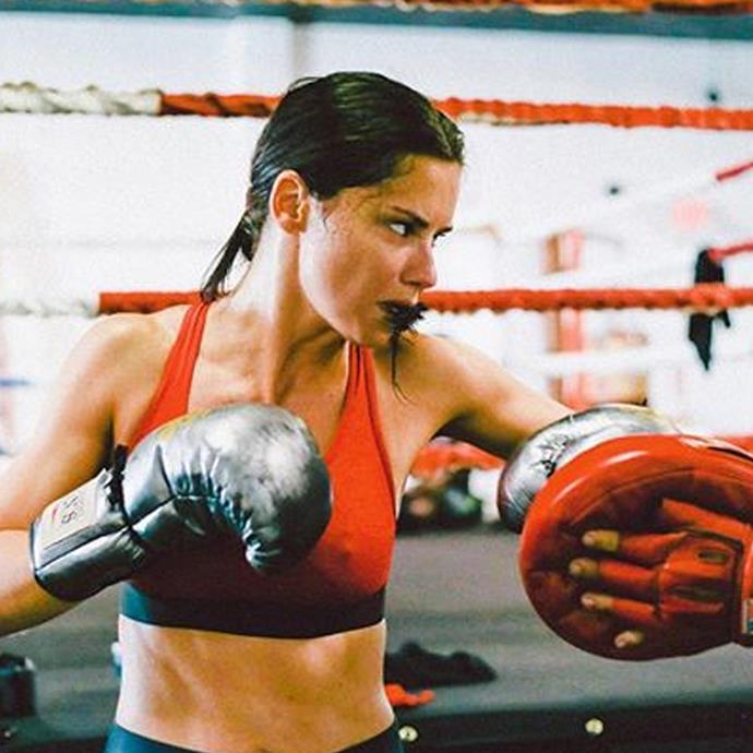 "<strong>Adriana Lima</strong> <br>On diet and exercise:  ""The secret is to watch your portions but I also work out a lot,"" she told Hello!. Working out a lot isn't necessary but I am very active and my body can endure intense workouts."""