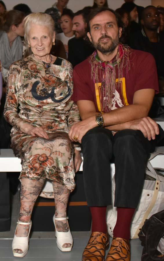 Vivienne Westwood and Andreas Kronthaler at Matty Bovan