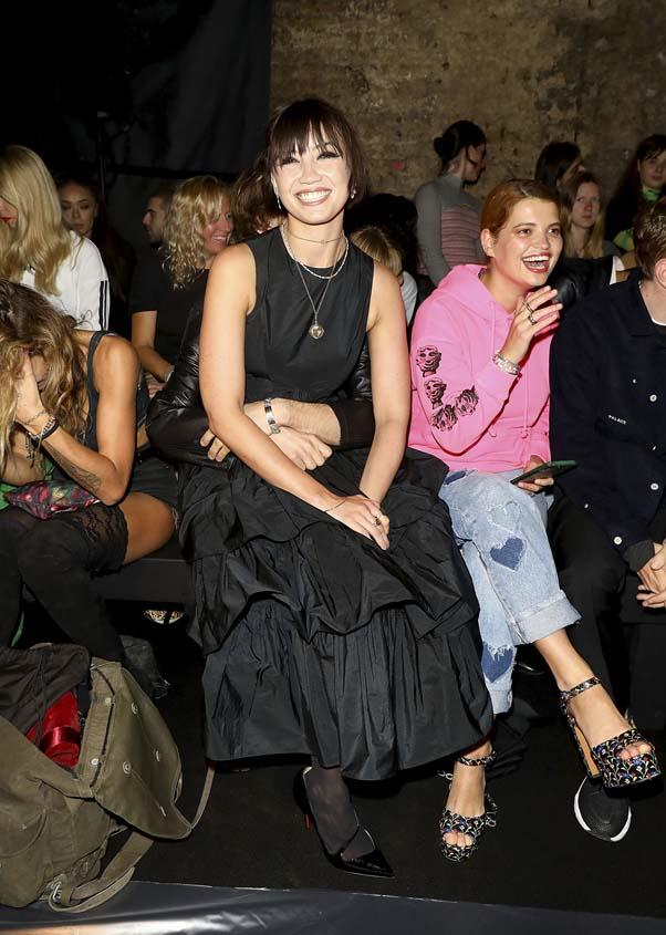 Daisy Lowe and Pixie Geldof at Ashley Williams