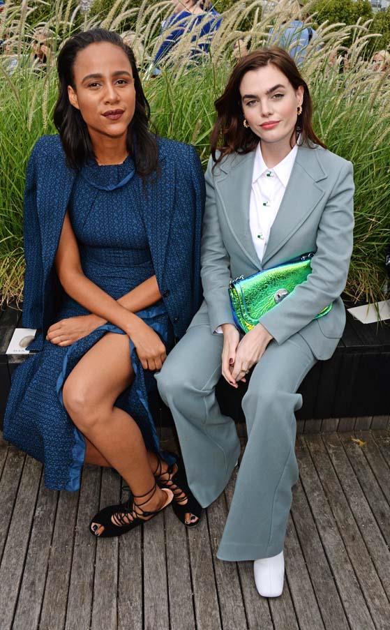 Zawe Ashton and Charli Howard at Roland Mouret