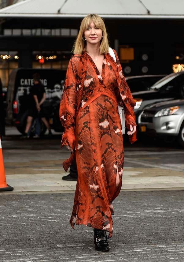Lisa Aiken at New York Fashion Week spring summer '19 <br><br> Image: Getty