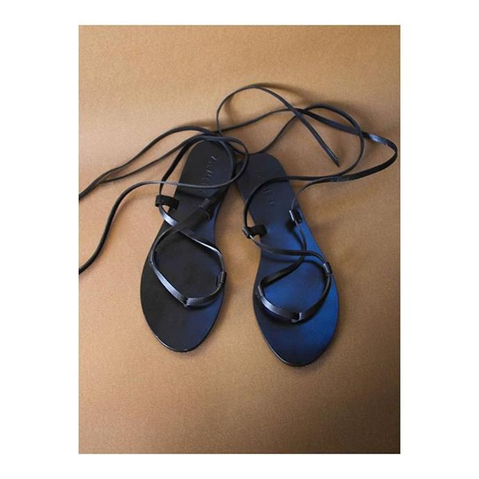 "***A.EMERY*** <br><br> A.EMERY's 'chic black sandals' can be dressed just as couture as they can be casual, for everything from work to beaching and the like. Dependable black flats are *so* much more wearable, and often just as elegant, as heels.  <br><br> *Shop at: [A.EMERY](https://www.aemery.com/|target=""_blank"")* <br> *Image: [A.EMERY](https://www.aemery.com/