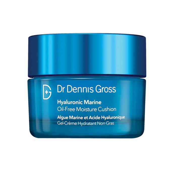 "**TOP-SELLER AT MECCA:** <br>  Dr. Dennis Gross Hyaluronic Marine Oil-Free Moisture Cushion, $88 at [MECCA](https://www.mecca.com.au/dr-dennis-gross/hyaluronic-marine-oil-free-moisture-cushion/V-030755.html|target=""_blank""