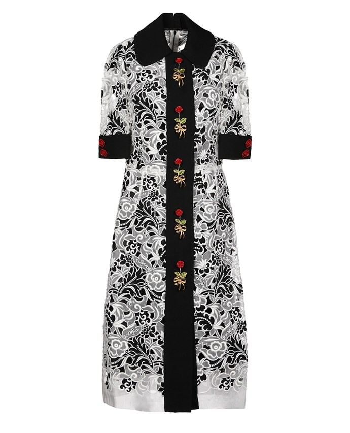 "Dolce & Gabbana dress, approx. $3,536.96 at [YOOX](https://www.yoox.com/au/34891833AT/item#dept=clothingwomenna&sts=sr_clothingwomenna80&cod10=34891833AT&sizeId=&sizeName=&tp=171240&utm_campaign=SpringRacing_HBOct18&utm_source=HarpersBazaar_AU&utm_medium=vertical&utm_content=SpringRacing_HBOct18|target=""_blank""