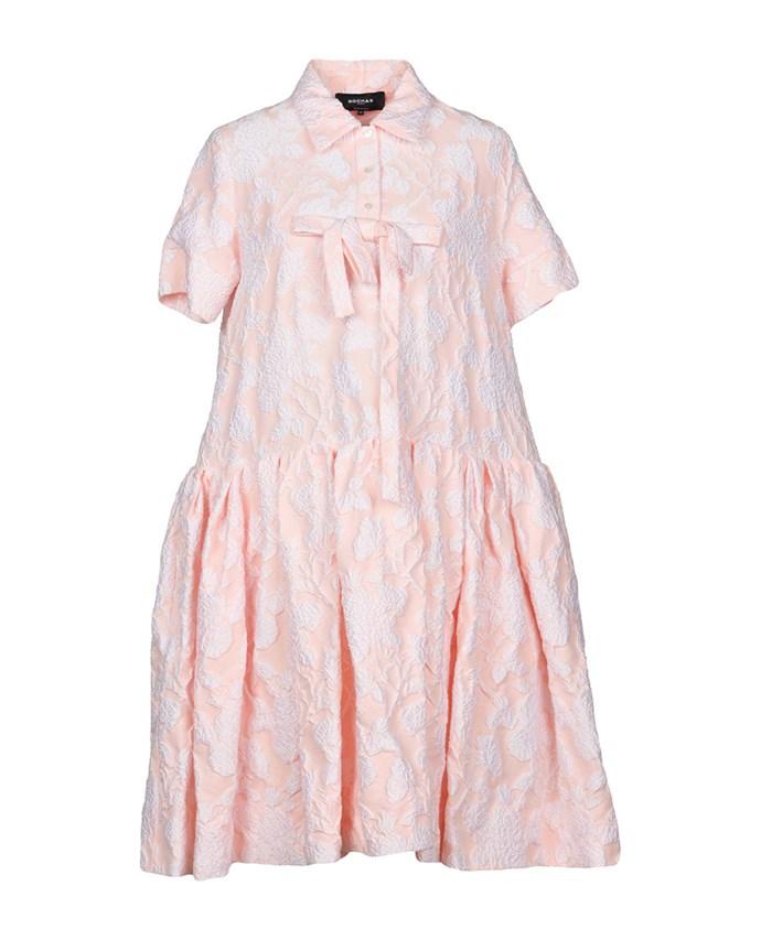 "Rochas dress, approx. $1,481.59 at [YOOX](https://www.yoox.com/au/34874718GU/item#dept=clothingwomenna&sts=sr_clothingwomenna80&cod10=34874718GU&sizeId=&sizeName=&tp=171240&utm_campaign=SpringRacing_HBOct18&utm_source=HarpersBazaar_AU&utm_medium=vertical&utm_content=SpringRacing_HBOct18|target=""_blank""|rel=""nofollow"")"