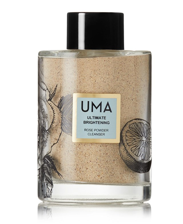"Uma Oils powder cleanser, $104.31 at [Net-a-Porter](https://www.net-a-porter.com/au/en/product/1000435/uma_oils/ultimate-brightening-rose-powder-cleanser--113g|target=""_blank""