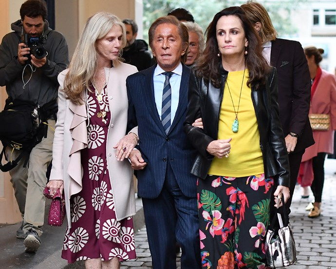 "**5. Valentino Garavani** <br><br> Though he's no longer the creative director of [Valentino](https://www.harpersbazaar.com.au/fashion/gigi-hadid-valentino-spring-2018-campaign-15395|target=""_blank""), Garavani is still one of the fashion world's best-known faces, and spends the majority of his time at his countryside maison in France (where he coincidentally hosted Kim Kardashian and Kanye West for their pre-wedding brunch).  <br><br> ***Net worth: $2.06 billion AUD***"