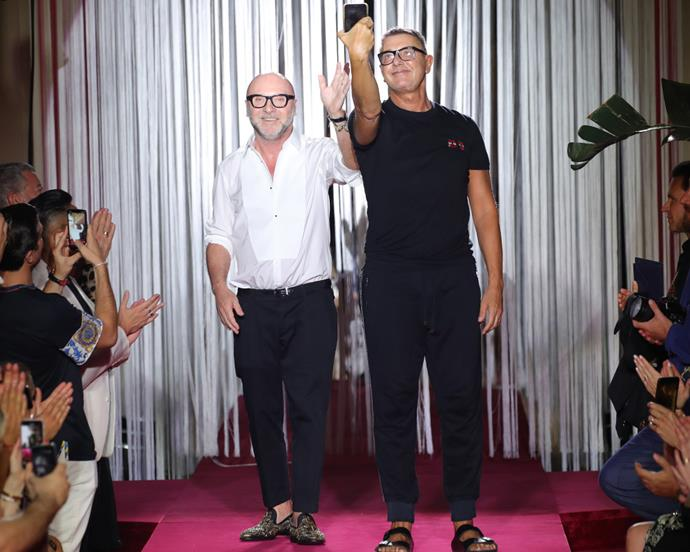 "**4. Domenico Dolce & Stefano Gabbana** <br><br> Stefano Gabbana and Domenico Dolce were once an *actual* couple, before they decided to collaborate to form [Dolce & Gabbana](https://www.harpersbazaar.com.au/fashion/dolce-and-gabbana-pasta-15014|target=""_blank""). In the years since their label's creation in the '80s, D&G has afforded the two Italian designers a world of success.  <br><br> ***Net worth: $2.33 billion AUD each***"