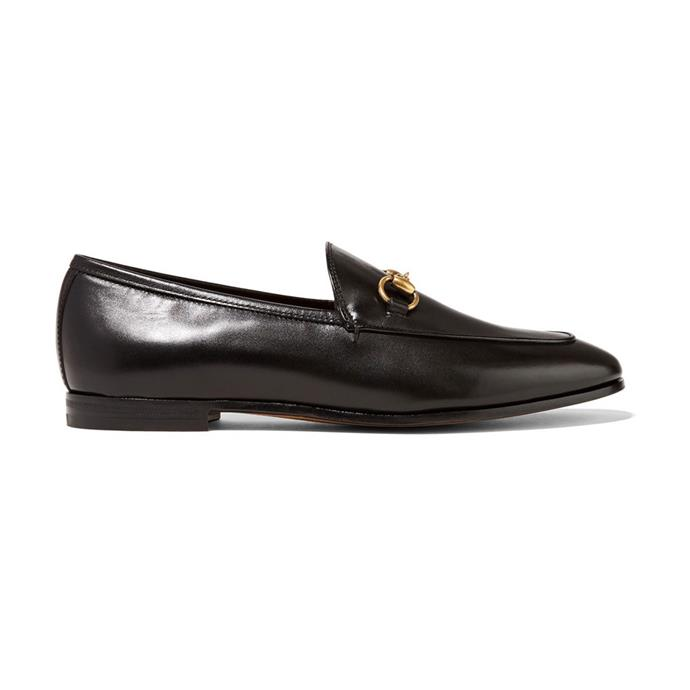 "**GUCCI HORSEBIT LOAFERS** <br><br>  Gucci Jordaan Leather Loafer, $930 at [Gucci](https://www.gucci.com/au/en_au/pr/women/womens-shoes/womens-moccasins-loafers/gucci-jordaan-leather-loafer-p-404069BLM001000?position=23&listName=ProductGrid&categoryPath=Women/Womens-Shoes|target=""_blank""