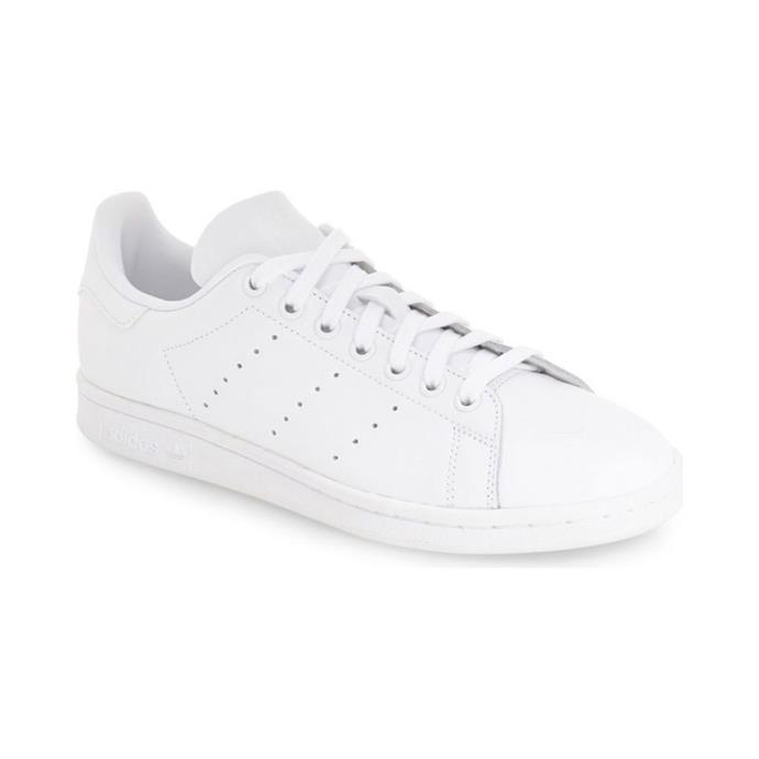 "**ADIDAS STAN SMITH SNEAKERS** <br><br> Adidas Originals Stan Smith White Sneakers, $120 at [The Iconic](https://www.theiconic.com.au/stan-smith-unisex-341883.html|target=""_blank""