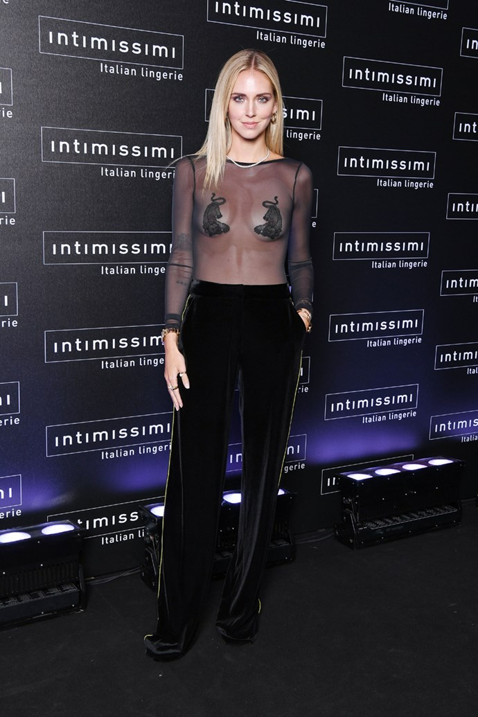 At the Intimissimi Show in Verona on September 5, 2018