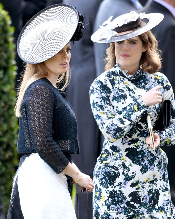 """***Royal wedding attendees mustn't upstage the bride*** <br><br> If there's one thing we noticed at Prince Harry and Meghan Markle's wedding, it was that other royals—namely [Kate Middleton](https://www.harpersbazaar.com.au/fashion/kate-middleton-royal-wedding-outfits-16516 target=""""_blank"""")—dressed in muted, toned-down outfits that let Meghan's much-anticipated wedding gown do the talking. Don't expect anything different at Eugenie's nuptials (aside from Queen Elizabeth, who almost always dons a [bright colour](https://www.harpersbazaar.com.au/celebrity/queen-elizabeth-meghan-markle-grenfell-tower-16728 target=""""_blank""""))."""