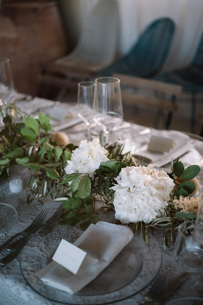 **On the reception: ** <br><br> Our reception was a sit-down dinner with assigned seating along one long table. Since we only had 65 people it still felt nice and intimate.