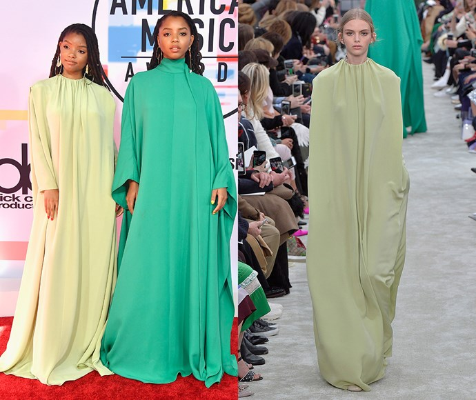 Chloe and Halle Bailey in Valentino autumn/winter '18.