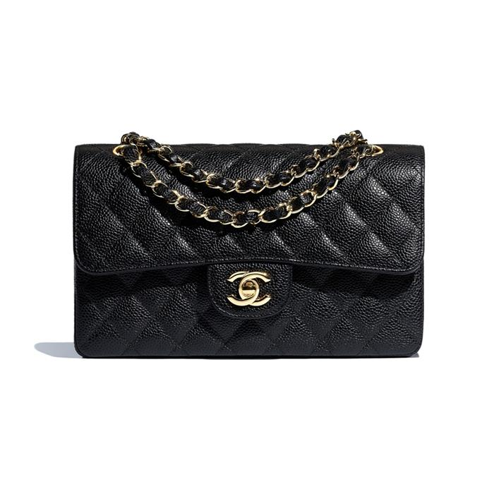 "***A timeless designer handbag***<br><br> Calfskin 'Small Classic' handbag, $7,100 at [Chanel](https://www.chanel.com/en_AU/fashion/p/hdb/a01113y01864/a01113y01864c3906/small-classic-handbag-grained-calfskin-goldtone-metal-black.html|target=""_blank""