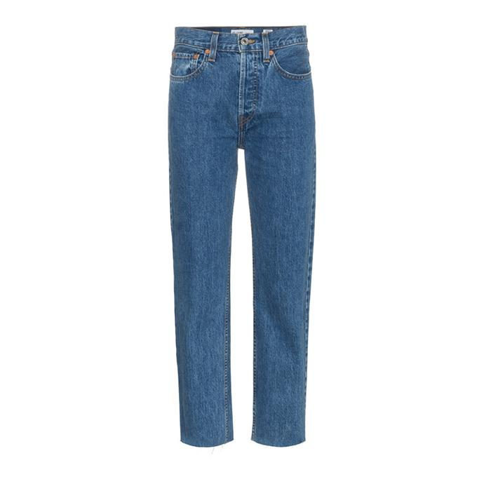"***A pair of perfect-fit blue denim jeans***<br><br> Straight leg jeans by Re/Done, $405 at [Farfetch](https://www.farfetch.com/au/shopping/women/redone-stove-pipe-27-high-waisted-straight-leg-cropped-jeans-item-12966601.aspx?storeid=11024|target=""_blank""