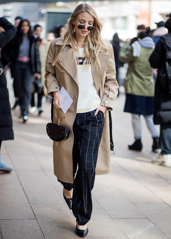***A well-fitting trench coat***<br><br> Worn open and casual, or buttoned up and business-like, a knee-length trench coat in a neutral beige is one of the longest-standing wardrobe classics around. Look for a slim fit with narrow shoulders, and avoid fussy details.