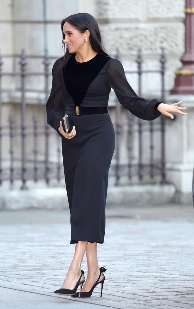 """***September 25th***<br><br> Donning [Givenchy](https://www.harpersbazaar.com.au/fashion/meghan-markle-givenchy-couture-16865