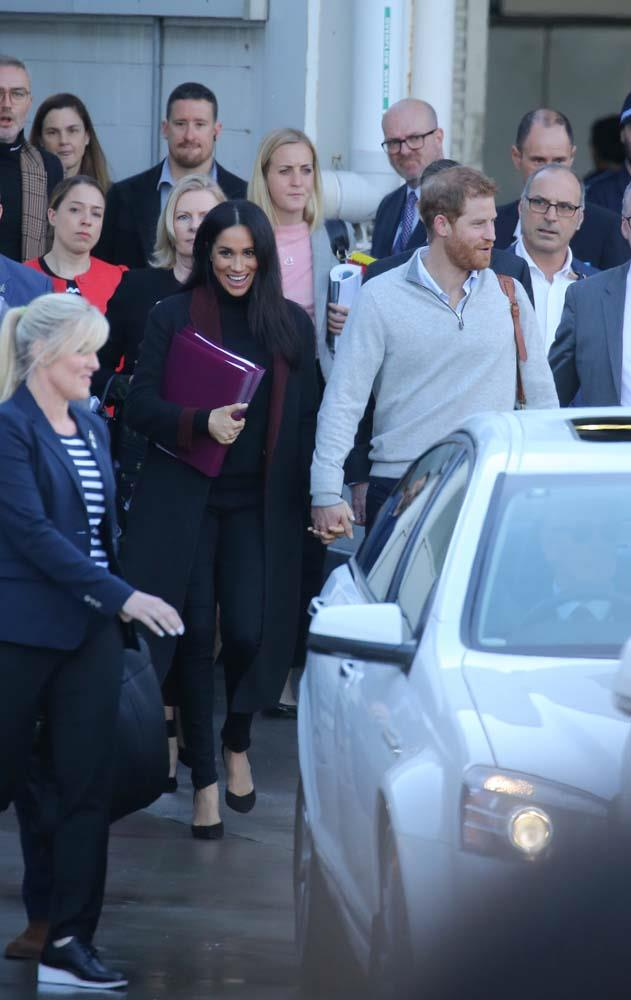 """***October 15th***<br><br> After touching down in Sydney for the royal tour of [Australia](https://www.harpersbazaar.com.au/culture/meghan-markle-prince-harry-first-appearance-australia-17505