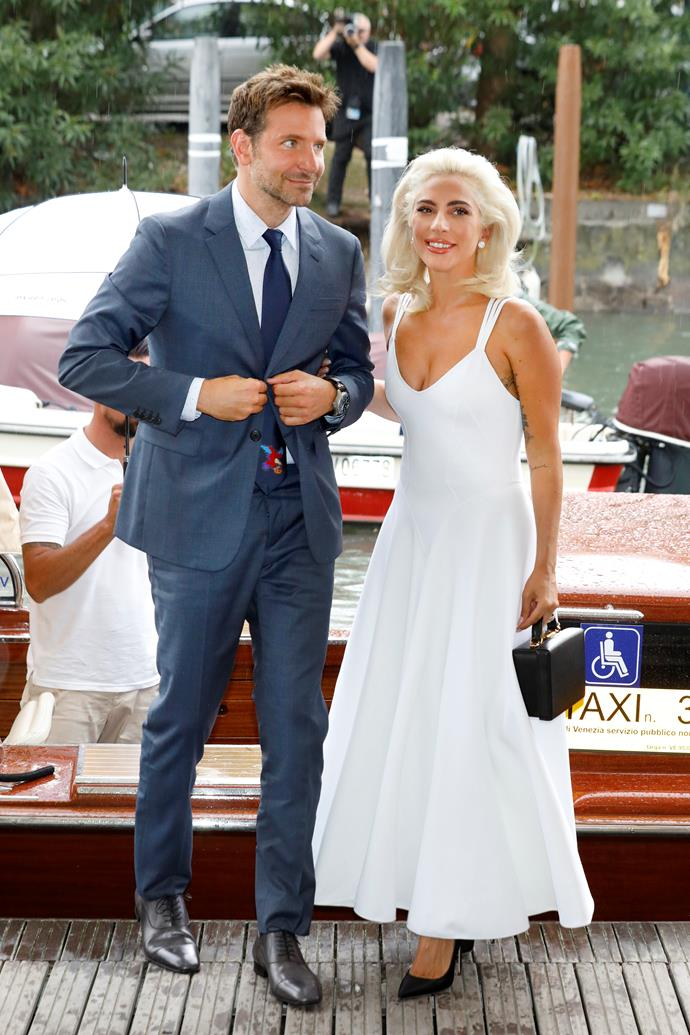The Mark Cross box bag was part of this Marilyn Monroe inspired look at Venice Film Festival.