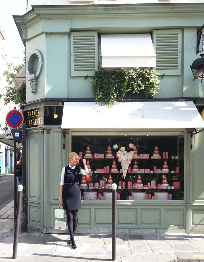 ***Maison Ladurée Bonaparte***<br><br>  My favourite Laduree store is this little one on the Left Bank. I have the best memories of coming here when I lived in Paris to buy only one thing… Salted caramel macarons. I do the same today… some things never change!