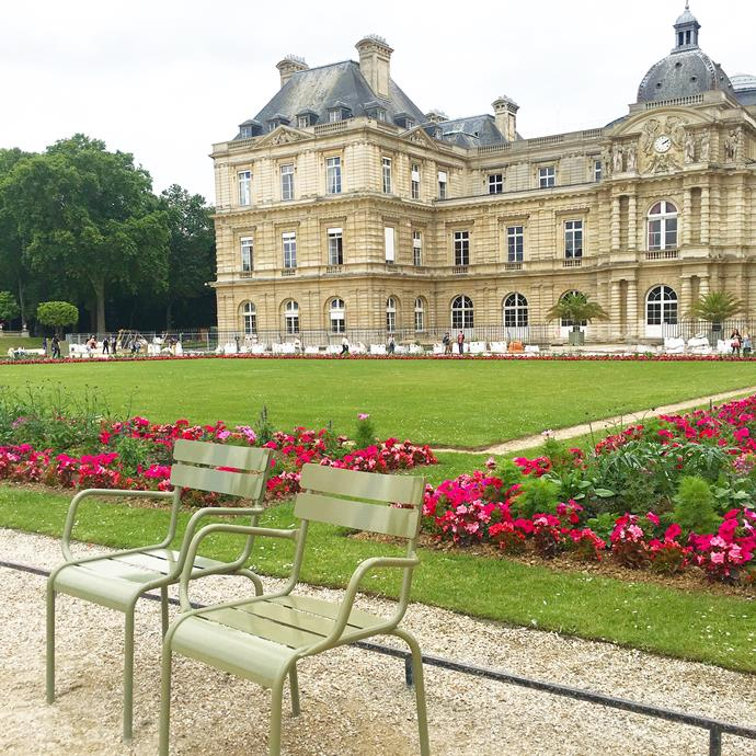 ***Jardin du Luxembourg***<br><br>  There are so many pretty parks and gardens in Paris but this one is often one of the most colourful during summer. We take a basket of baguettes and pastries to enjoy in the park, finishing just minutes before a storm hits the city. How's that for timing!