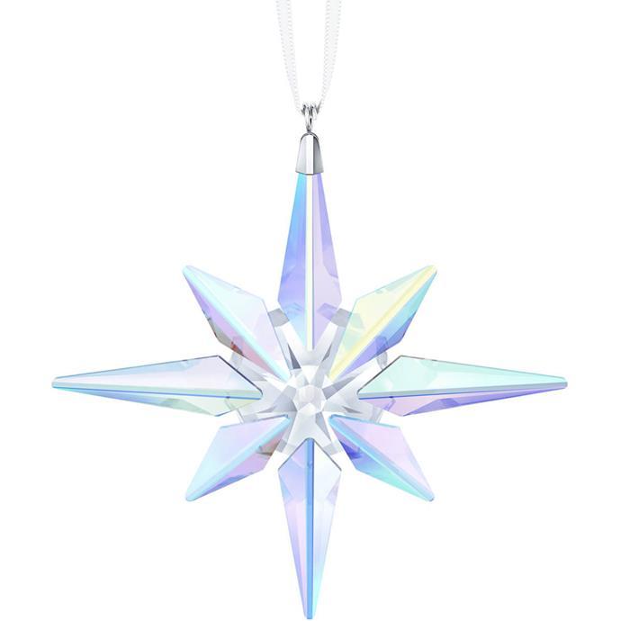 "Star ornament, $149 at [Swarovski](https://www.swarovski.com/en_GB-AU/p-5403200/Star-Ornament-Crystal-AB/|target=""_blank""|rel=""nofollow"")."