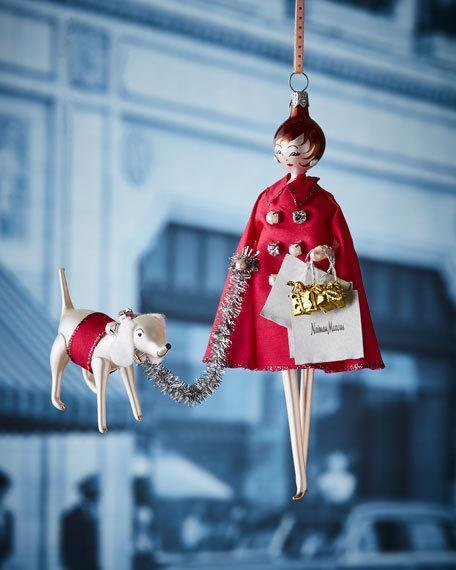 """Ornament by De Carlini, $101 at [Neiman Marcus](https://www.neimanmarcus.com/en-au/p/de-carlini-nm-lady-shopper-christmas-ornament-prod210730035 target=""""_blank"""" rel=""""nofollow"""")."""